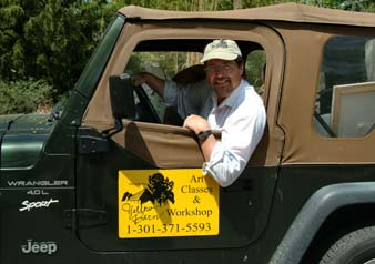 Walt in jeep